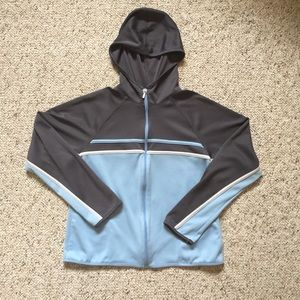 C9 blue and grey hooded jacket. Size M.